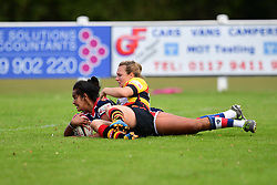 Lagi Tuima of Bristol Ladies  scores her sides fourth try - Mandatory by-line: Craig Thomas/JMP - 17/09/2017 - Rugby - Cleve Rugby Ground  - Bristol, England - Bristol Ladies  v Richmond Ladies - Women's Premier 15s