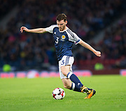 4th September 2017, Hampden Park, Glasgow, Scotland; World Cup Qualification, Group F; Scotland versus Malta; Scotland's Andy Robertson