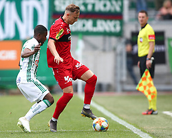 25.05.2019, Allianz Stadion, Wien, AUT, 1. FBL, SK Rapid Wien vs Cashpoint SCR Altach, Qualifikationsgruppe, 32. Spieltag, im Bild v.l. Kelvin Arase (SK Rapid Wien) und Marco Meilinger (Cashpoint SCR Altach) // during the tipico Bundesliga qualification group 32nd round match between SK Rapid Wien and Cashpoint SCR Altach at the Allianz Stadion in Wien, Austria on 2019/05/25. EXPA Pictures © 2019, PhotoCredit: EXPA/ Thomas Haumer