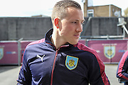 Fredrik Ulvestad (Burnley) arrives at the ground before the Sky Bet Championship match between Burnley and Queens Park Rangers at Turf Moor, Burnley, England on 2 May 2016. Photo by Mark P Doherty.