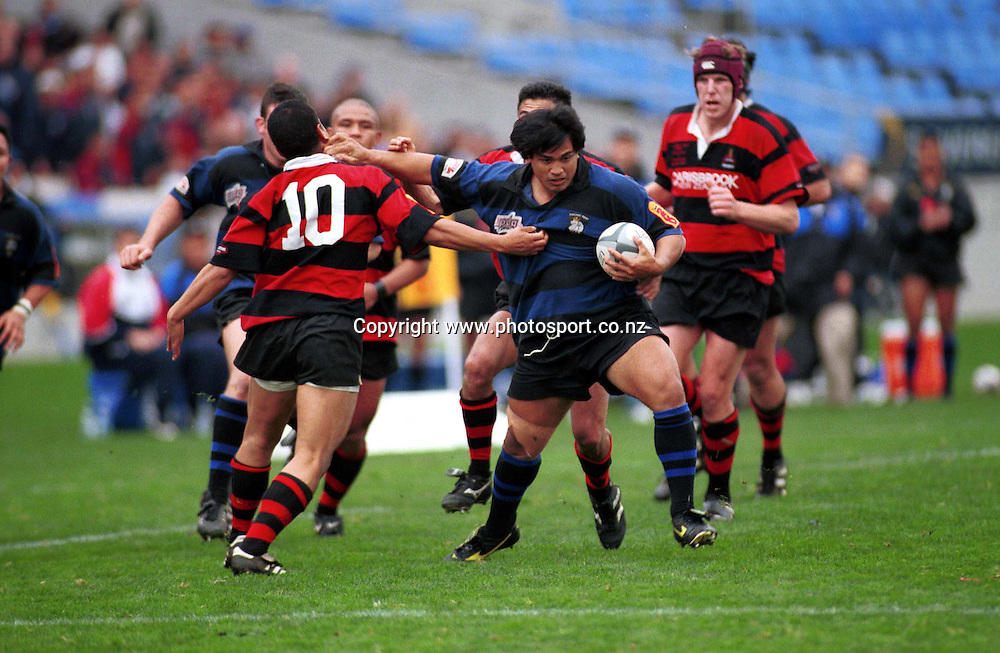 Jonathan Meredith in action during the Auckland rugby union club match between Otahuhu and Ponsonby, 2000. Photo: PHOTOSPORT *** Local Caption ***