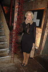 DAME HELEN MIRREN at a reception to Discover Wilton's Music Hall held at the hall in Graces Alley, London E1 on 5th December 2007.<br />