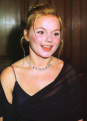 Former Spice Girl GERI HALLIWELL, at a banquet in Surrey on 12th November 1998.MLX 11