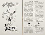 All Ireland Senior Hurling Championship Final,.Brochures,.02.09.1945, 09.02.1945, 2nd September 1945,.Tipperary 5-6, Kilkenny 3-6, .Minor Dublin v Tipperary, .Senior Tipperary v Kilkenny, .Croke Park, ..Advertisements, Hallidays Football Boots, ..Poems, The West's Asleep,