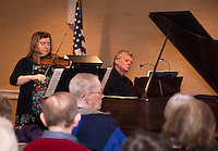 Violinist Zoia Bologovsky and Pianist Paul Dykstra perform at Woodside on Sunday afternoon as part of the Taylor Community Music Series sponsored by Bank of New Hampshire.  (Karen Bobotas/for the Laconia Daily Sun)