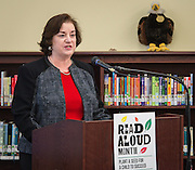 Katy Caldwell comments during a news conference at Walnut Bend Elementary School launching Read Aloud Month, March 1, 2016.