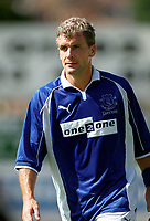 Mark Hughes (Everton) Exeter City v Everton, Pre-Season Friendly, 5/08/2000. Credit: Colorsport / Matthew Impey