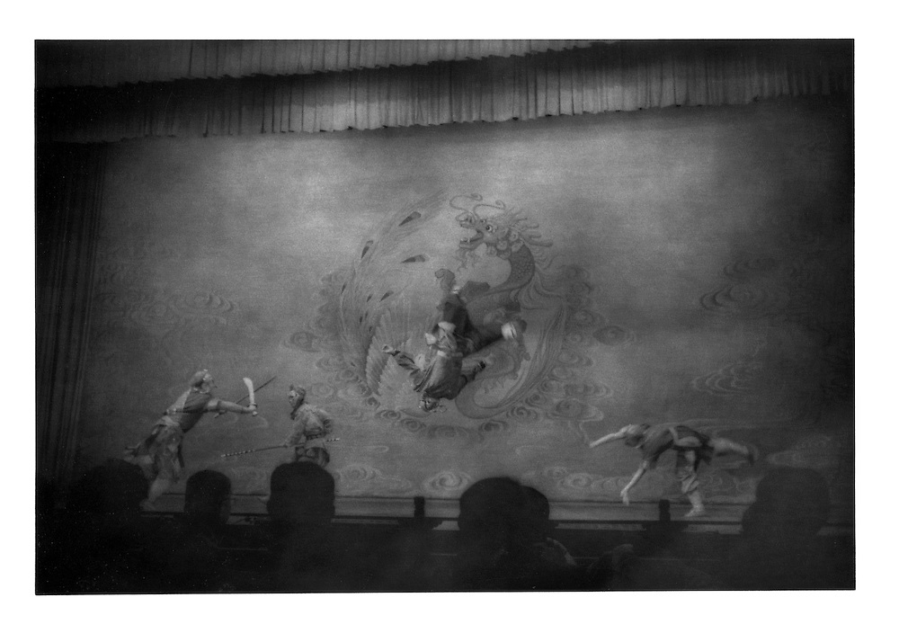 Acrobats at the Chinese opera.  Xi'an, Shaanxi Province, China.  1996