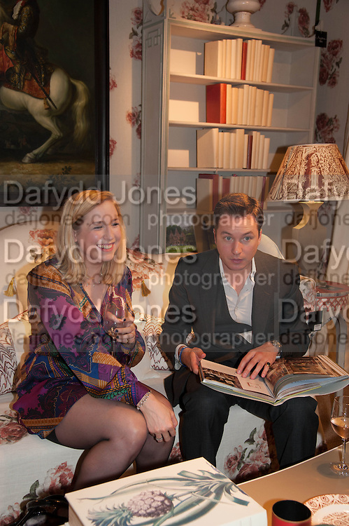 ZULEIKA PARKIN; OLIVER GERRISH, The launch of Nicky Haslam for Oka. Oka, 155-167 Fulham Rd. London SW3. 18 September 2013.
