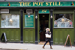 Exterior of the Pot Still pub in central Glasgow, famous for large selection of whisky , Scotland, UK