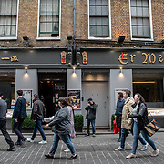 Er Mei in London Chinatown Sweet Tooth Cafe and Restaurant at Newport Court and Garret Street on 15 June 2019, UK.