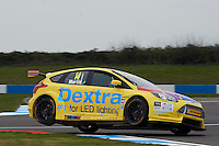 #14 Alex Martin GBR Dextra Racing with Team Parker Ford Focus during Media Day Test Session as part of the BTCC Media Day at Donington Park, Melbourne, Leicestershire, United Kingdom. March 22 2016. World Copyright Peter Taylor/PSP. Copy of publication required for printed pictures.  Every used picture is fee-liable.