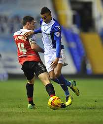 Birmingham City's Jesse Lingard makes his way past Doncaster Rovers' Dean Furman - Photo mandatory by-line: Alex James/JMP - Tel: Mobile: 07966 386802 03/12/2013 - SPORT - Football - Birmingham - St Andrews - Birmingham City v Doncaster Rovers - Sky Bet Championship