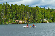 Canoeing on Rushing River <br />Rushing River Provincial Park<br />Ontario<br />Canada