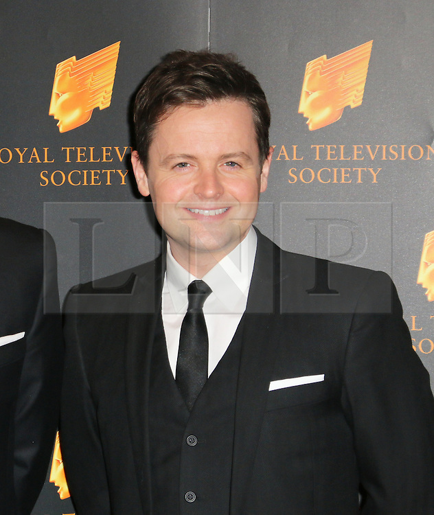 © Licensed to London News Pictures. 18/03/2014, UK. Declan Donnelly, The Royal Television Society Programme Awards, Grosvenor House Hotel, London UK, 18 March 2014. Photo credit : Richard Goldschmidt/Piqtured/LNP