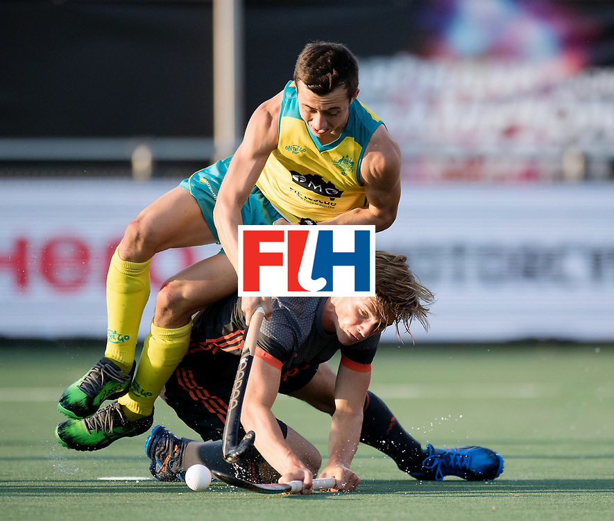BREDA - Rabobank Hockey Champions Trophy<br /> Netherlands - Australia<br /> Photo: Lachlan Sharp and Jorrit Croon.<br /> COPYRIGHT WORLDSPORTPICS FRANK UIJLENBROEK