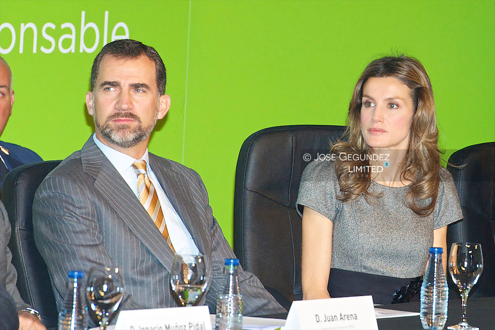 "Prince Felipe and Princess Letizia attend the Delivery of the First Edition of ""SERES Awards for Innovation and Enterprise Social Commitment"" at Mutua Madrilen?a Headquarters in Madrid"