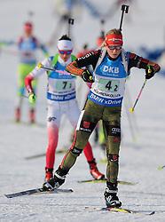 11.03.2016, Holmenkollen, Oslo, NOR, IBU Weltmeisterschaft Biathlon, Oslo, 4x6 Km Staffel, Damen, im Bild Franziska Hildebrand (GER) // during 4x6 km women relay of the IBU World Championships, Oslo 2016 at the Holmenkollen in Oslo, Norway on 2016/03/11. EXPA Pictures © 2016, PhotoCredit: EXPA/ Newspix/ Tomasz Jastrzebowski<br /> <br /> *****ATTENTION - for AUT, SLO, CRO, SRB, BIH, MAZ, TUR, SUI, SWE only*****