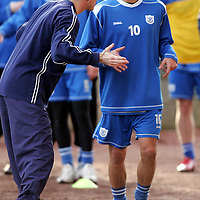 St Johnstone Training...26.01.07<br />Owen Coyle explains the rules of a sprinting exercise to new signing Filipe Morais<br />see story by Gordon Bannerman Tel: 01738 553978 or 07729 865788<br />Picture by Graeme Hart.<br />Copyright Perthshire Picture Agency<br />Tel: 01738 623350  Mobile: 07990 594431
