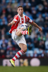 Stoke Forward Marko Arnautovic (AUT) in action - Photo mandatory by-line: Rogan Thomson/JMP - 07966 386802 - 23/03/2014 - SPORT - FOOTBALL - Villa Park, Birmingham - Aston Villa v Stoke City - Barclays Premier League.