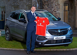 CARDIFF, WALES - Monday, January 15, 2018: New Wales national team manager Ryan Giggs poses for as portrait with the Vauxhall Grandland X car after the announcement of his appointment at the Hensol Castle. (Pic by David Rawcliffe/Propaganda)