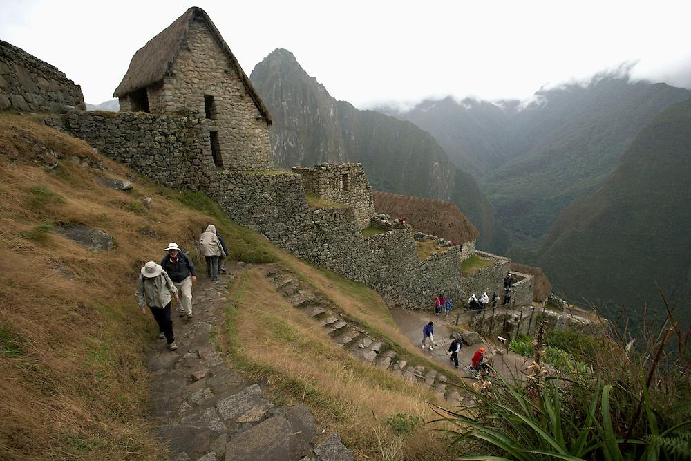 Hiking at  Machu Picchu  Peru