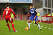 Ryan Jonhson of Stevenage on the ball during the Sky Bet League 2 match between Crawley Town and Stevenage at the Checkatrade.com Stadium, Crawley, England on 26 December 2015. Photo by Phil Duncan.
