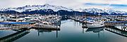 Overlooking Seward's Small Boat Harbor on the northern edge of Resurrection Bay in Seward, Alaska.