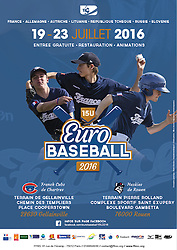 European Baseball Championship U15 Street Advertising poster, 2016.