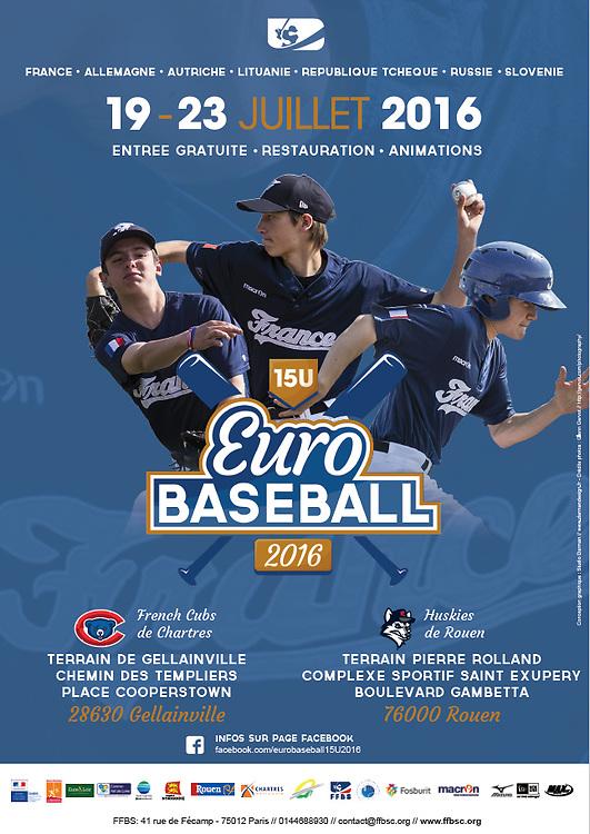 European Baseball Championship U15 Street Advertising poster, 2016.