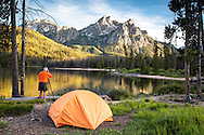 McGown Peak Photographer.  This majestic peak towers over Stanley Lake in the Sawtooth National Forest.