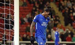 Ivan Toney of Peterborough United cuts a dejected figure - Mandatory by-line: Joe Dent/JMP - 26/12/2018 - FOOTBALL - Oakwell Stadium - Barnsley, England - Barnsley v Peterborough United - Sky Bet League One