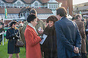 PRINCESS ANNE; JOAN COLLINS, Hennessy Gold Cup, The Racecourse Newbury. 30 November 2013.