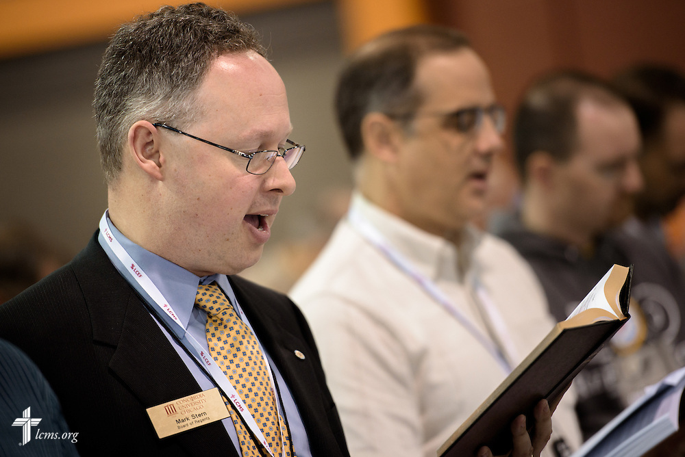 Mark Stern, vice chairman of the Board of Regents of Concordia University Chicago, participates Thursday, July 14, 2016, at the 66th Regular Convention of The Lutheran Church–Missouri Synod, in Milwaukee. LCMS/Michael Schuermann
