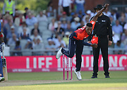 Chris Jordan during the International T20 match between England and India at Old Trafford, Manchester, England on 3 July 2018. Picture by George Franks.