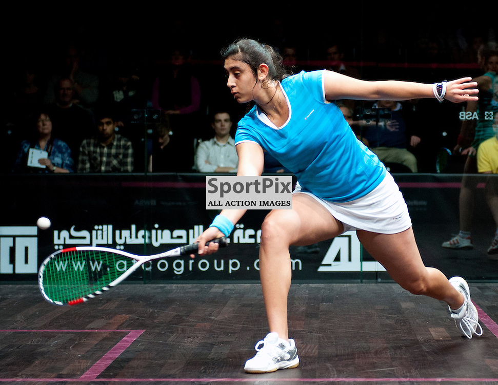 Egypt's NOUR EL SHERBINI V England's JENNY DUNCALF (world ranking 8) ATCO PSA World Series Finals 4 January 2013 (c) Simon Westmore | Stockpix