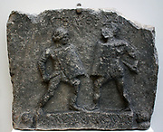 Female Gladiators Roman 1st and 2nd Centuries AD From Halicarnassus, Turkey This marble sculpture carved in relief, commemorates the honourable release from service of two women fighters.