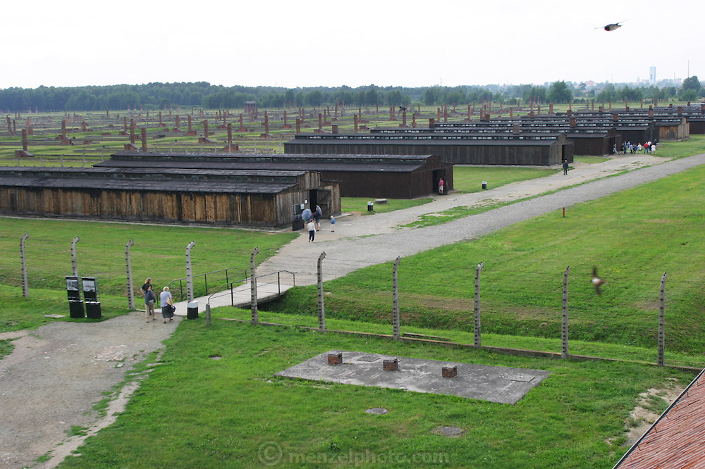 Birkenau Death Camp, Poland, barracks.
