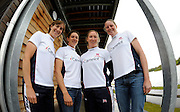 Caversham, Great Britain, GB W4X, left to right, Katherine GRAINGER, Annie VERNON, Debbie FLOOD and Frances HOUGHTON,  GB Rowing media day at the Redgrave Pinsent Rowing Lake. GB Rowing Training centre. Wed. 20.04.2008  [Mandatory Credit. Peter Spurrier/Intersport Images] Rowing course: GB Rowing Training Complex, Redgrave Pinsent Lake, Caversham, Reading
