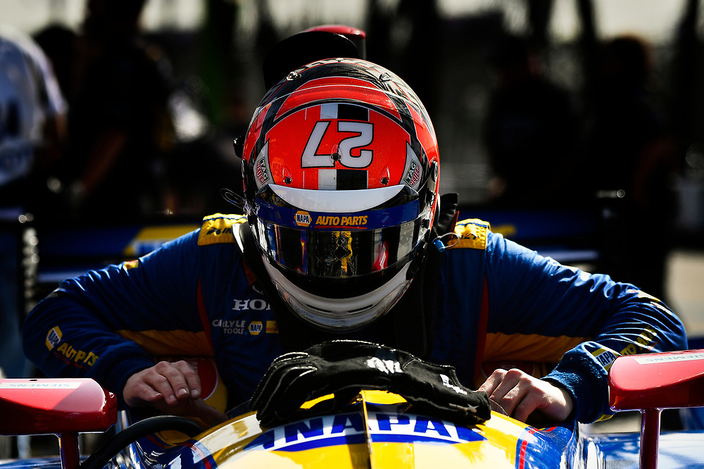 Alexander Rossi, Andretti Autosport Honda<br /> Friday 13 April 2018<br /> Toyota Grand Prix of Long Beach<br /> Verizon IndyCar Series<br /> Streets of Long Beach, California USA<br /> World Copyright: Scott R LePage<br /> LAT Images