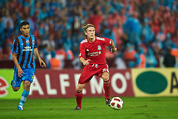 TRABZON, TURKEY - Thursday, August 26, 2010: Liverpool's Christian Poulsen in action against Trabzonspor during the UEFA Europa League Play-Off 2nd Leg match at the Huseyin Avni Aker Stadium. (Pic by: David Rawcliffe/Propaganda)