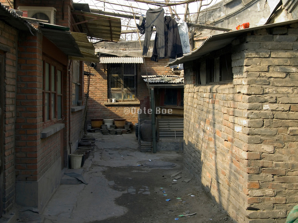 small restricted living quarters inner city Beijing China
