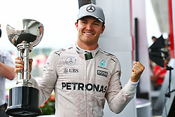GP von Japan 2016 in Suzuka / 091016<br /> <br /> ***Formula One Grand Prix of Japan on October 9, 2016 in Suzuka.***<br /> <br /> GP von Japan 2016 in Suzuka / 091016<br /> <br /> ***Formula One Grand Prix of Japan on October 9, 2016 in Suzuka.***<br /> <br /> Race winner Nico Rosberg (GER) Mercedes AMG F1 celebrates on the podium.<br /> 09.10.2016. Formula 1 World Championship, Rd 17, Japanese Grand Prix, Suzuka, Japan, Race Day.<br />  - www.xpbimages.com, EMail: requests@xpbimages.com - copy of publication required for printed pictures. Every used picture is fee-liable. © Copyright: Bearne / XPB Images