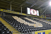 Hull City KC Stadium score board before the Sky Bet Championship match between Hull City and Ipswich Town at the KC Stadium, Kingston upon Hull, England on 20 October 2015. Photo by Ian Lyall.