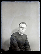 vintage portrait of a young priest France, circa 1930s