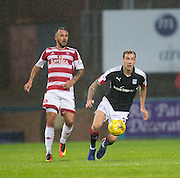 Hamilton&rsquo;s Dougie Imrie and Dundee&rsquo;s Kevin Holt - Dundee v Hamilton Academical in the Ladbrokes Scottish Premiership at Dens Park<br /> <br />  - &copy; David Young - www.davidyoungphoto.co.uk - email: davidyoungphoto@gmail.com