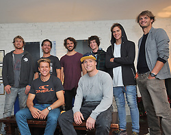 Red Bull Kite Surfing Crew <br /> Chilling at the Ice House Hotel Ballina after a day out at Killcummin .<br /> Pic Conor McKeown