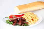 Char Grilled Merguez sausages with french fries