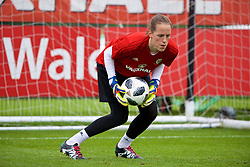 NEWPORT, WALES - Tuesday, June 5, 2018: Wales' goalkeeper Laura O'Sullivan during a training session at Dragon Park ahead of the FIFA Women's World Cup 2019 Qualifying Round Group 1 match against Bosnia and Herzegovina. (Pic by David Rawcliffe/Propaganda)