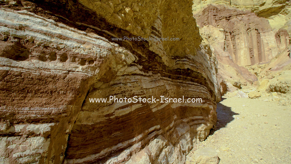 Shkhoret Canyon, a Wadi in the Eilat Mountains, Israel